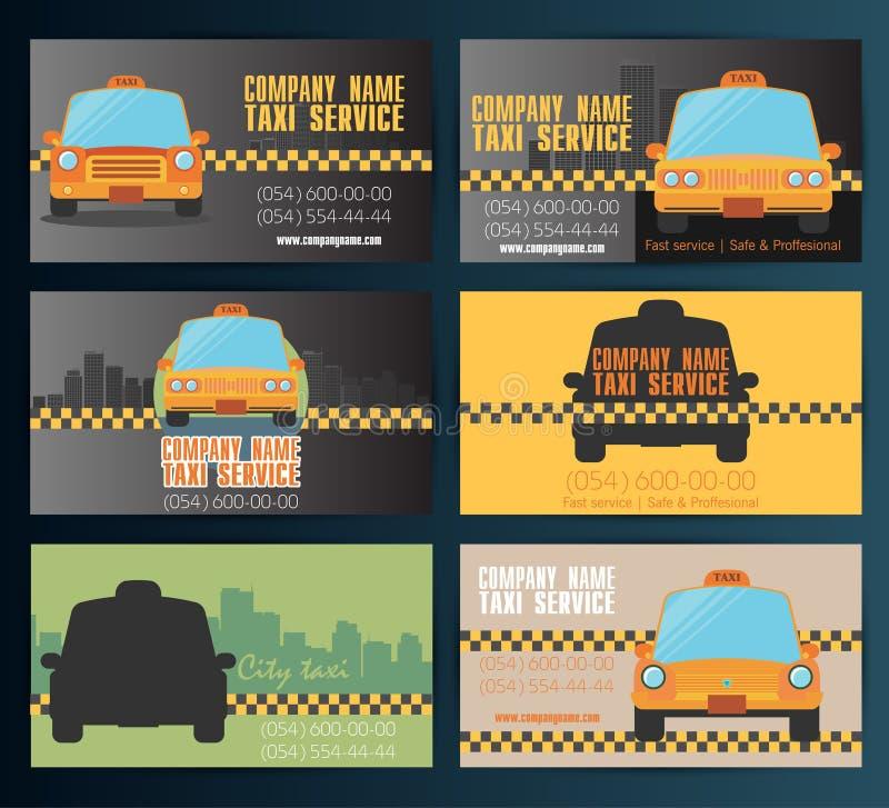 名片出租汽车-第四个集合 传染媒介10eps 皇族释放例证