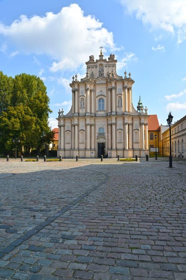 名片圣若瑟Obruchnik ` s储教会的看法  免版税库存图片