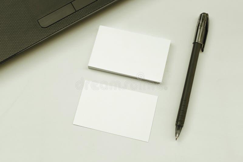 名片堆照片  免版税库存图片