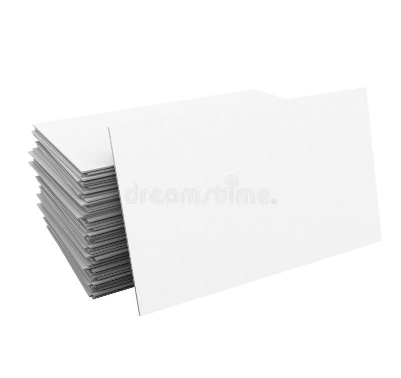 名片堆Pile Blank Copy Space Your Business Company 库存例证