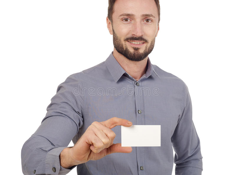名片快乐的人 免版税库存图片
