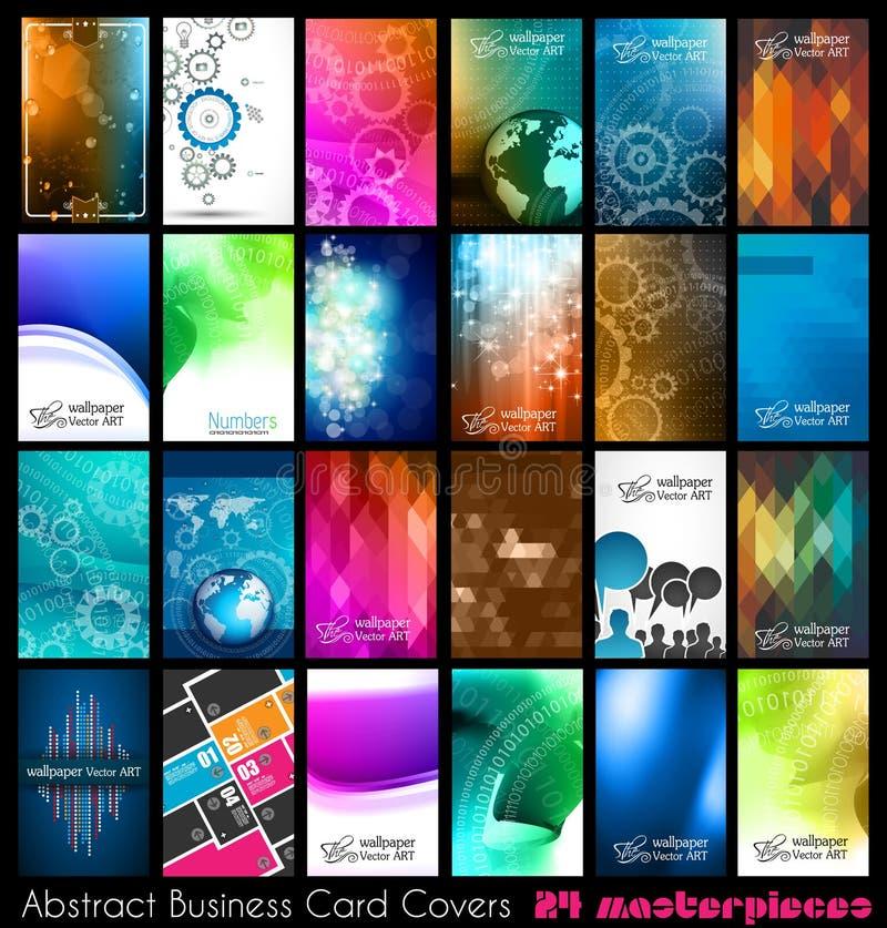 名片的24抽象质量背景 库存例证