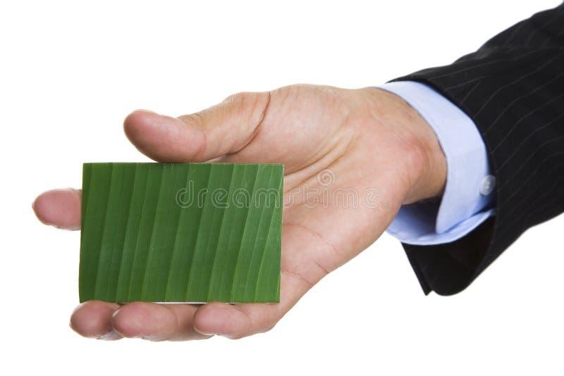 名片绿色 免版税图库摄影