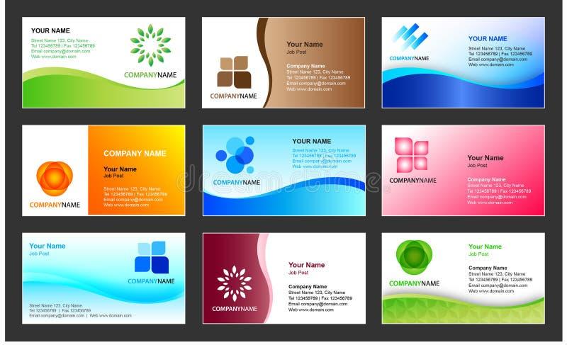 名片设计模板 库存例证