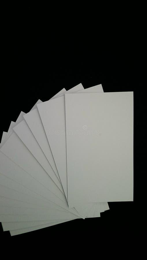 名片财务系列 免版税图库摄影