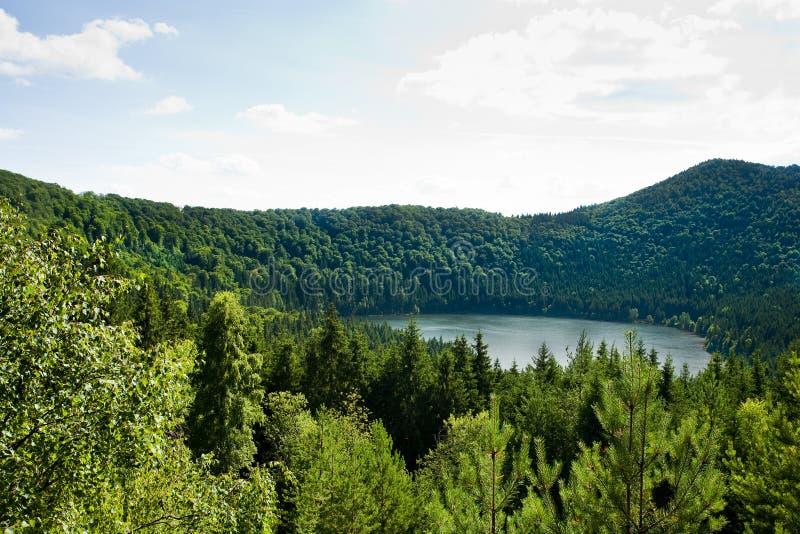 名言湖火山罗马尼亚的圣徒 库存图片