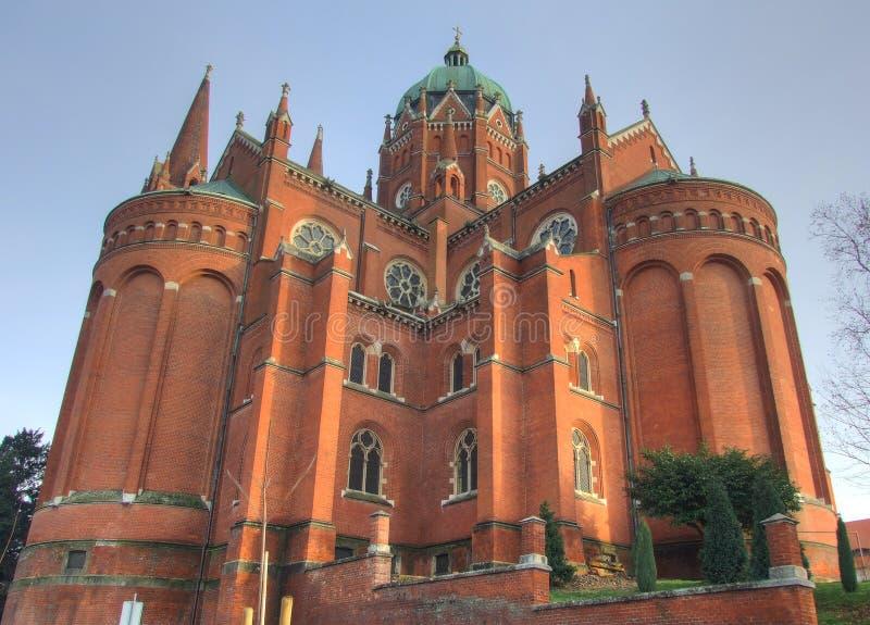 后侧方大教堂克罗地亚 免版税库存图片