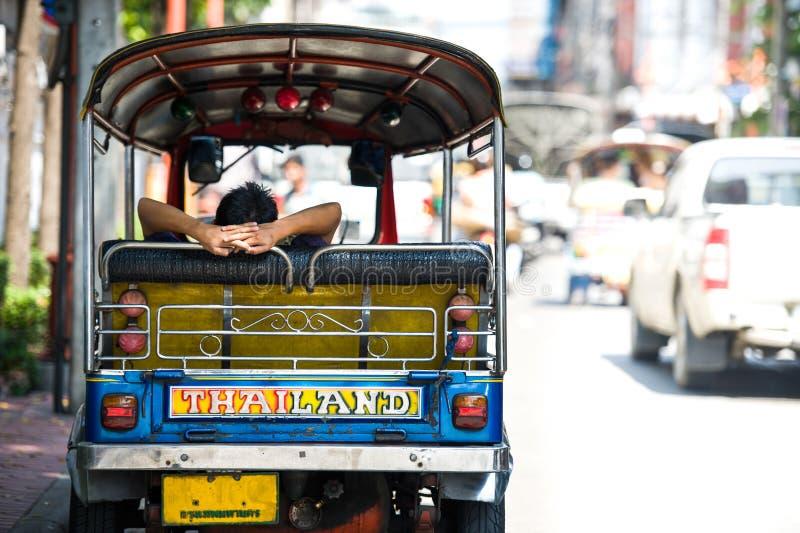 后侧方TukTuk泰国 免版税图库摄影