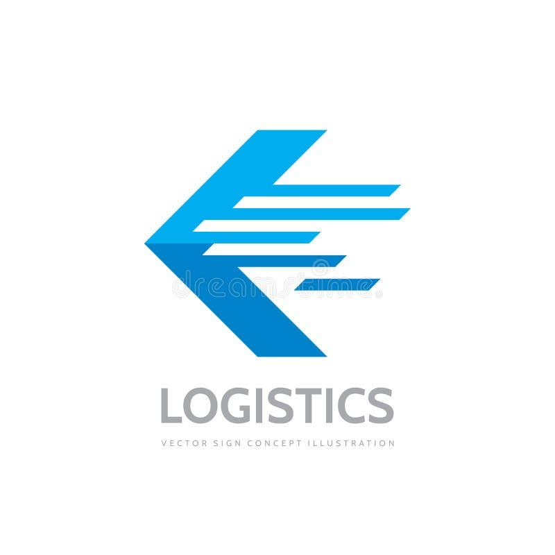后勤公司-概念企业商标模板传染媒介例证 抽象箭头创造性的标志 运输送货服务 库存例证