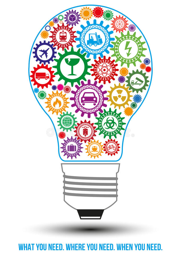 后勤学为环球设计观念服务 向量例证