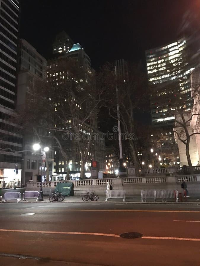 后在晚上我美丽的镇 免版税图库摄影