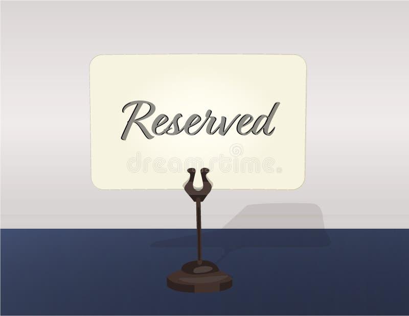 后备的桌标志持有人传染媒介例证 库存照片
