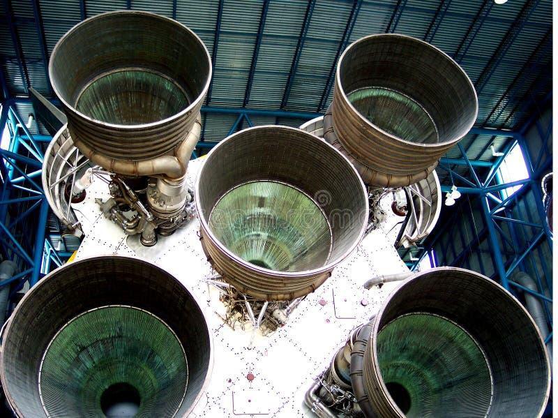 后方太空飞船视图 库存照片