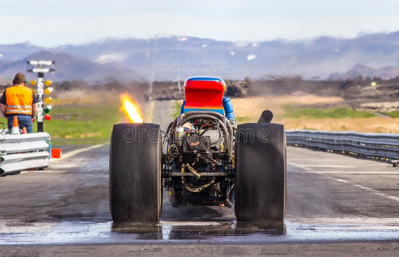 后方引擎Dragster 免版税库存图片