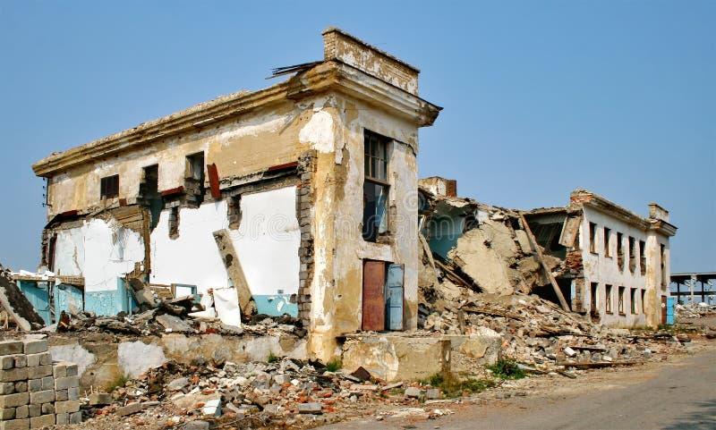 后果地震 免版税库存照片