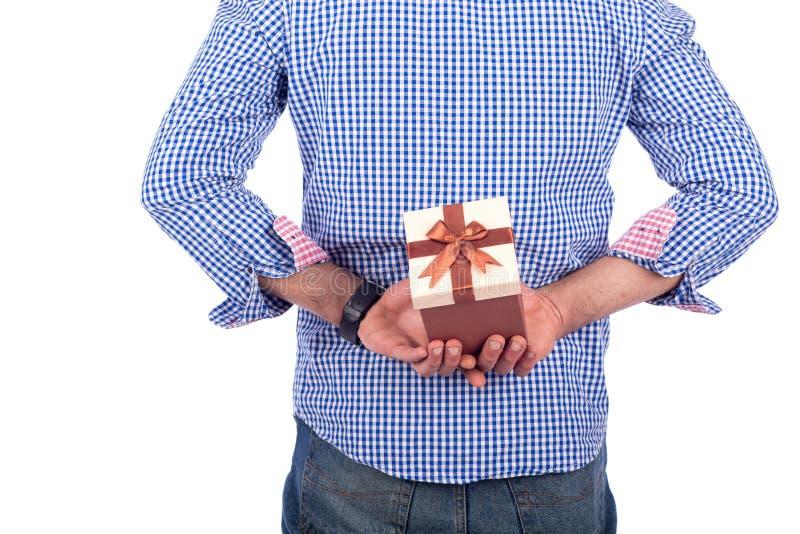 后边礼品返回 免版税库存图片