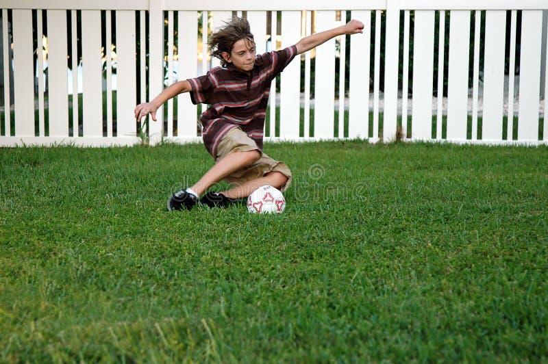 后院足球 免版税库存图片