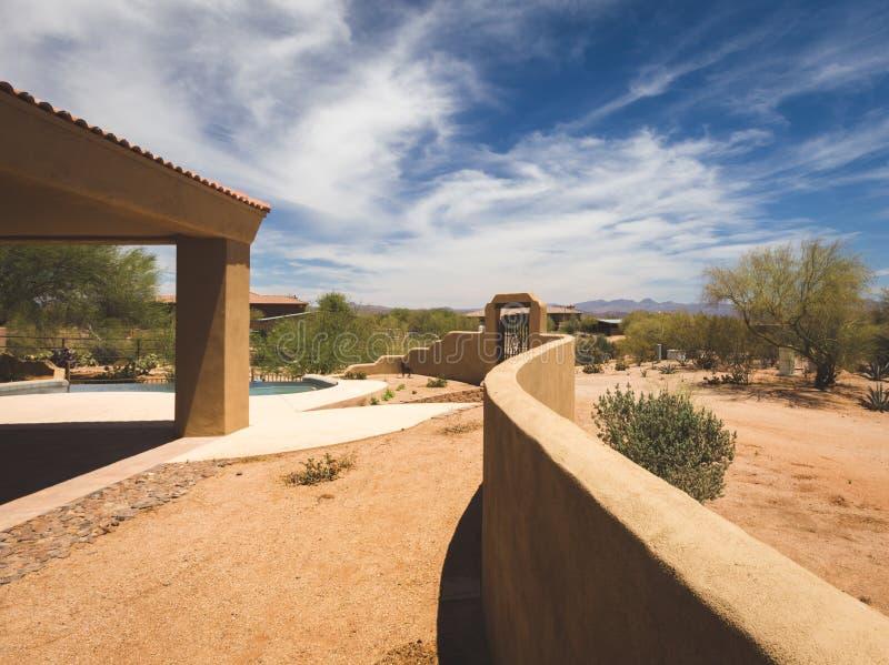 后院高级沙漠物产 库存照片