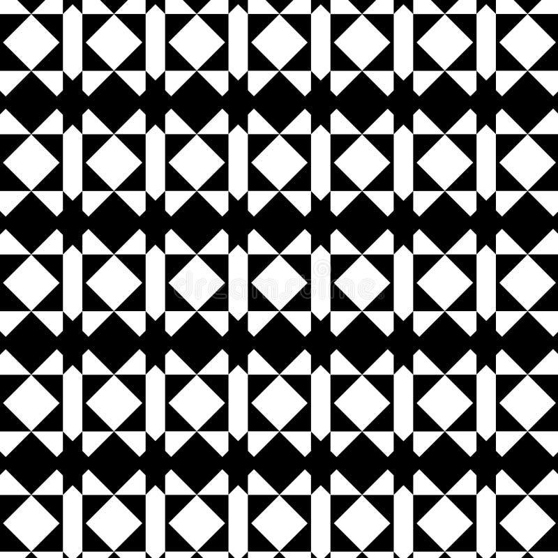 后面和白色现代几何重复的样式 库存例证