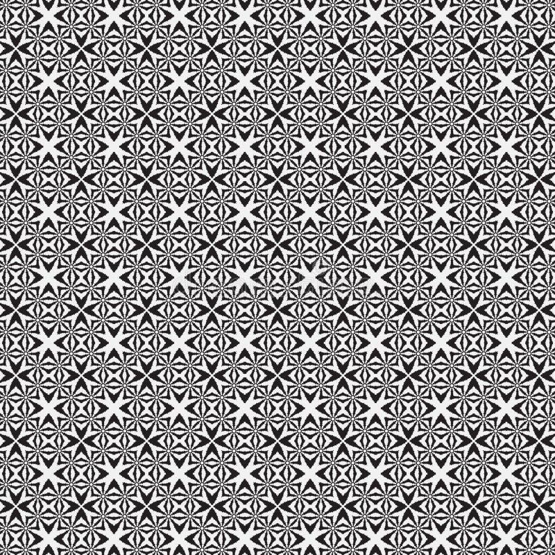 后面和白色装饰几何无缝的样式 库存例证