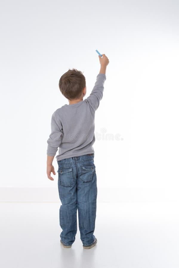 从后面显示的孩子 免版税库存图片