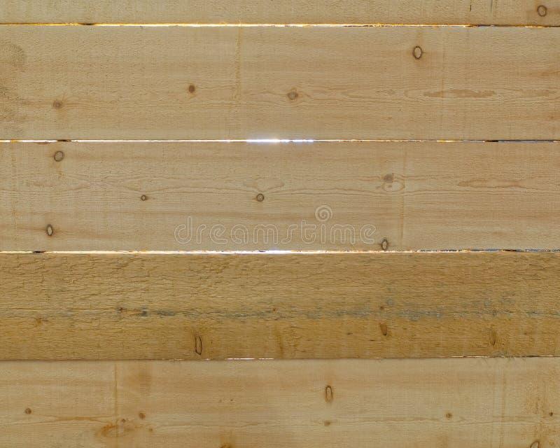 后面点燃了木板条特写镜头 免版税库存图片