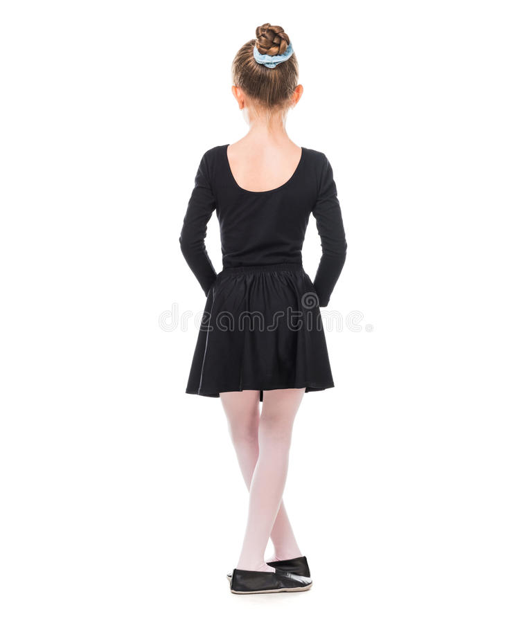 从后面的小芭蕾舞女演员 免版税库存图片
