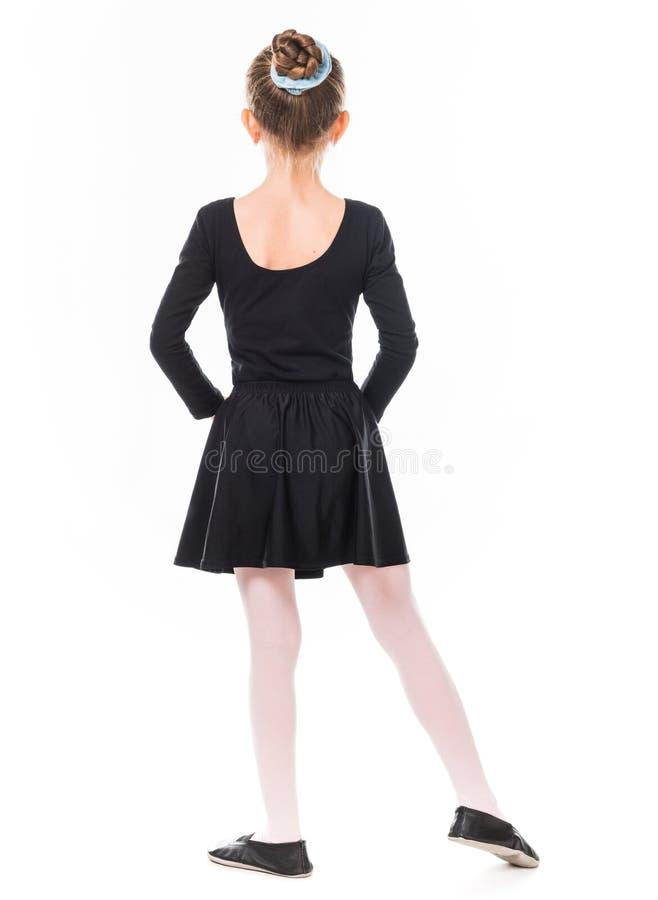 从后面的小芭蕾舞女演员 免版税库存照片