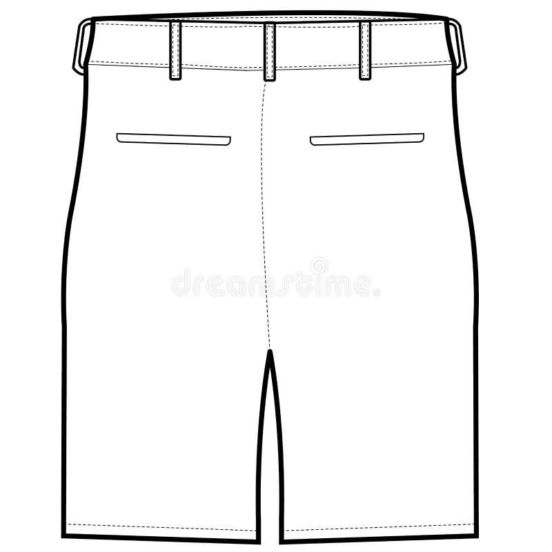 后面短裤传染媒介 库存例证
