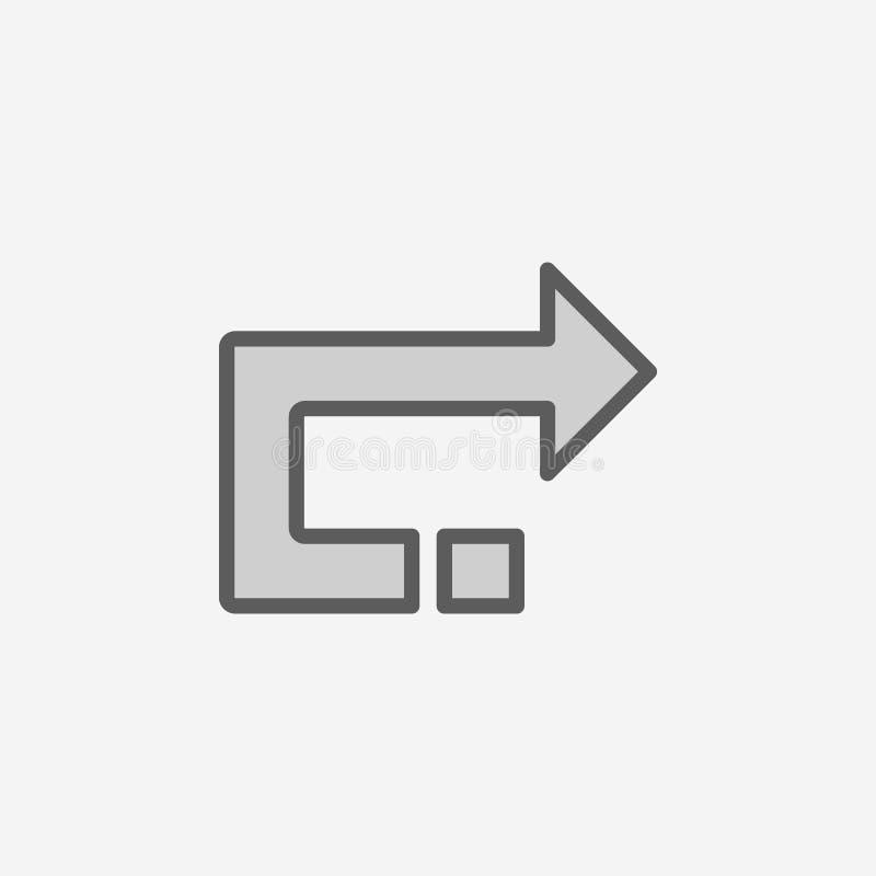 后面箭头领域概述象 2种颜色简单的象的元素 网站设计和发展的, app发展稀薄的线象 库存例证