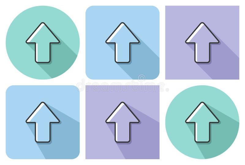 向上方向箭头被概述的象  向量例证