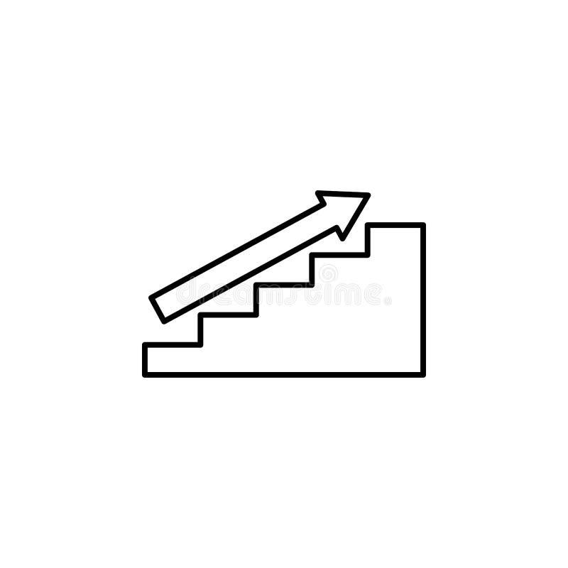 向上楼梯象 在我们的生活象的台阶 优质质量图形设计 标志,标志汇集,网站的简单的象 皇族释放例证