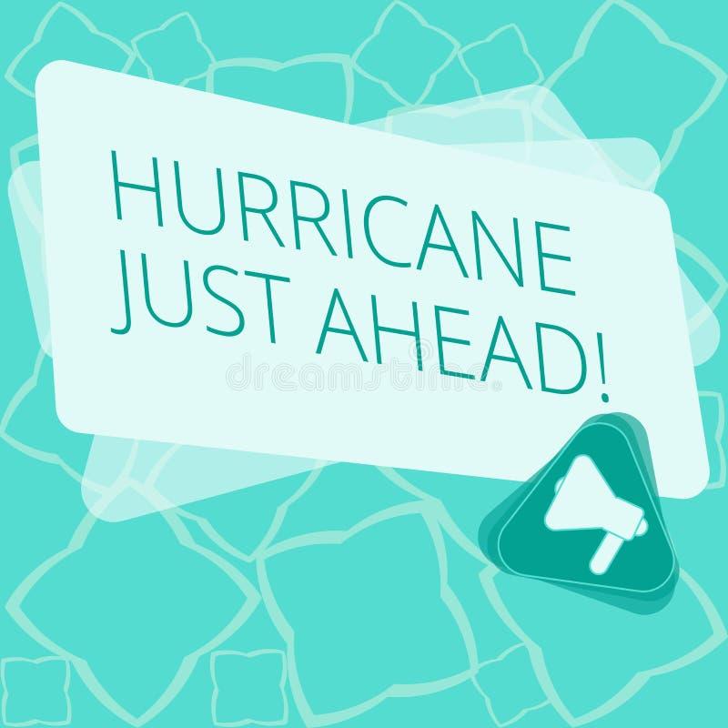 向前写文本飓风的词 猛烈热带气旋的企业概念接近击中土地 皇族释放例证