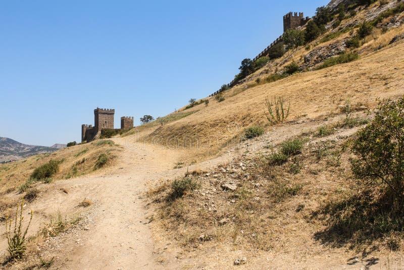 向堡垒的道路 免版税库存图片
