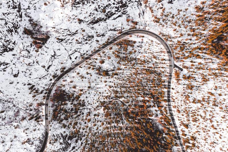 向太浩湖的路在美国 免版税图库摄影