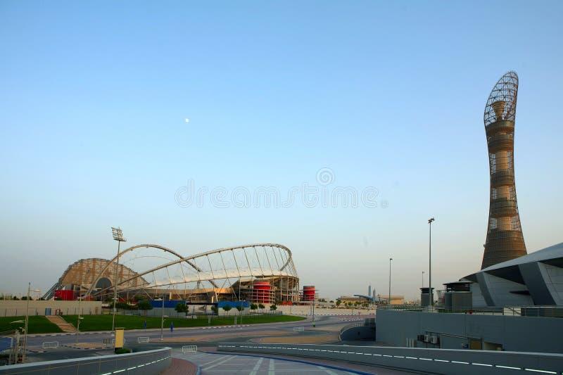 向往复杂卡塔尔体育运动 库存照片