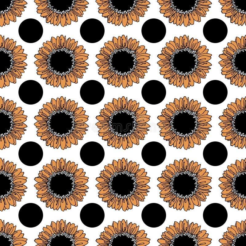 Download 向日葵的样式 向量例证. 插画 包括有 例证, 图画, bossies, 艺术, 模式, 装饰, 橙色, 无缝 - 72370967