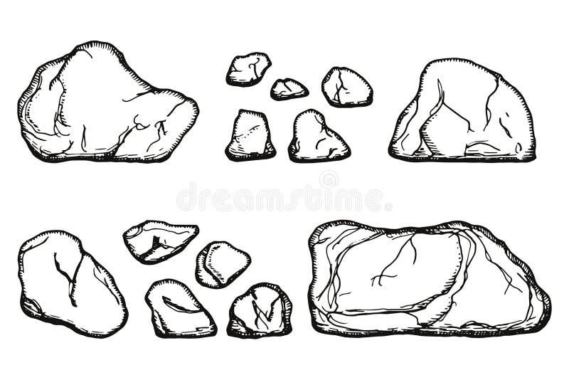 向被隔绝的鹅卵石传染媒介扔石头 图画递她的温暖的妇女年轻人的早晨图片