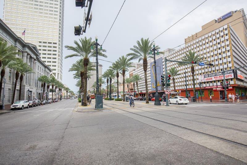 向西运河的街道,新奥尔良 免版税库存图片