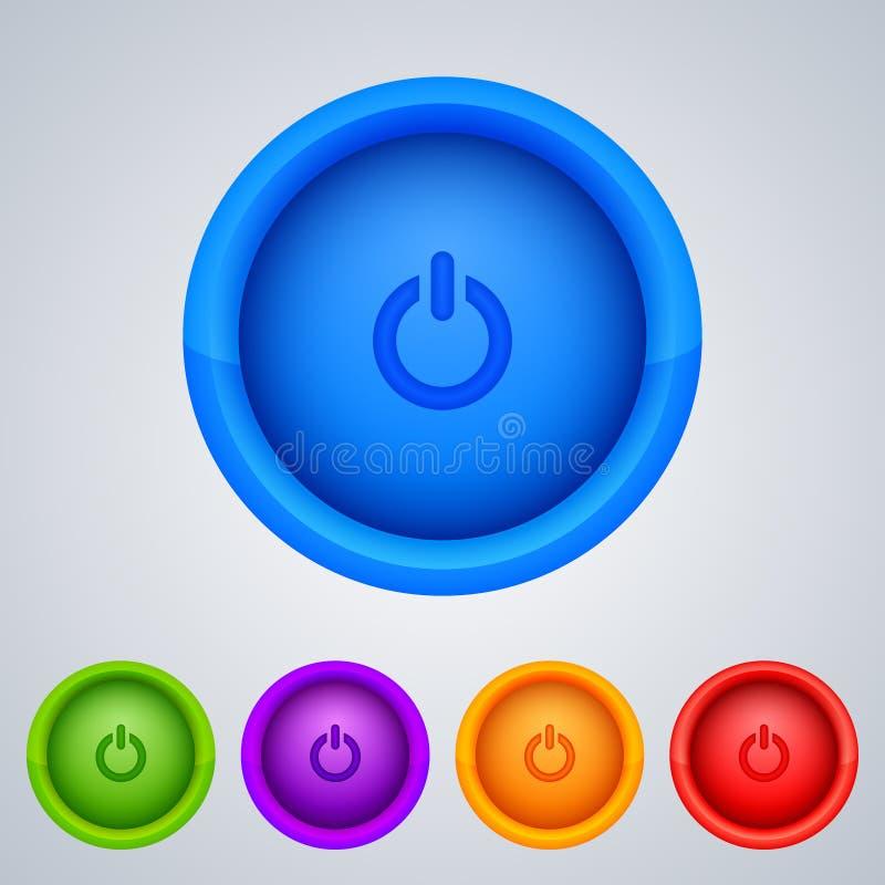 向量万维网按钮装箱 向量例证