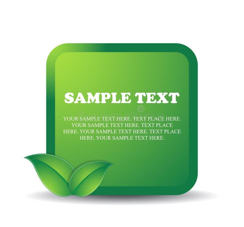 向量与绿色叶子的eco设计 库存例证