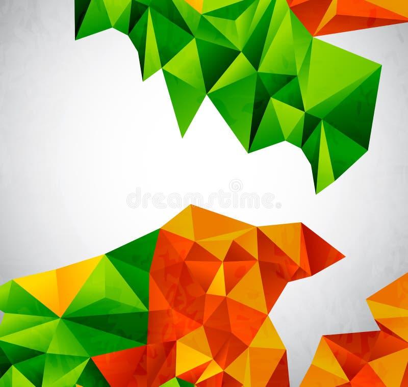 向量五颜六色的几何形状 皇族释放例证