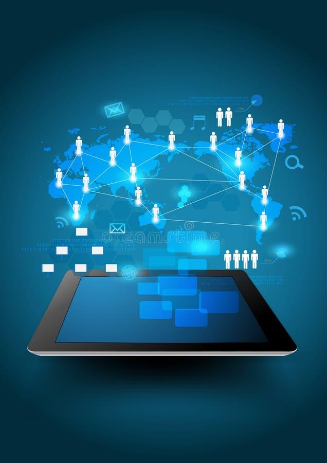 向量企业网络进程绘制 皇族释放例证