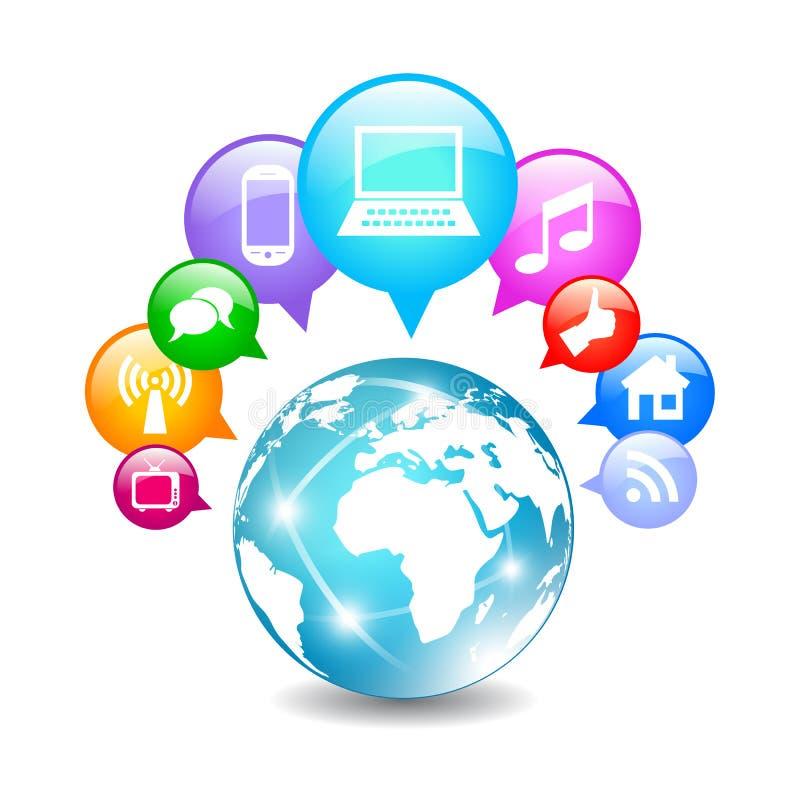 向量全球性通信 向量例证