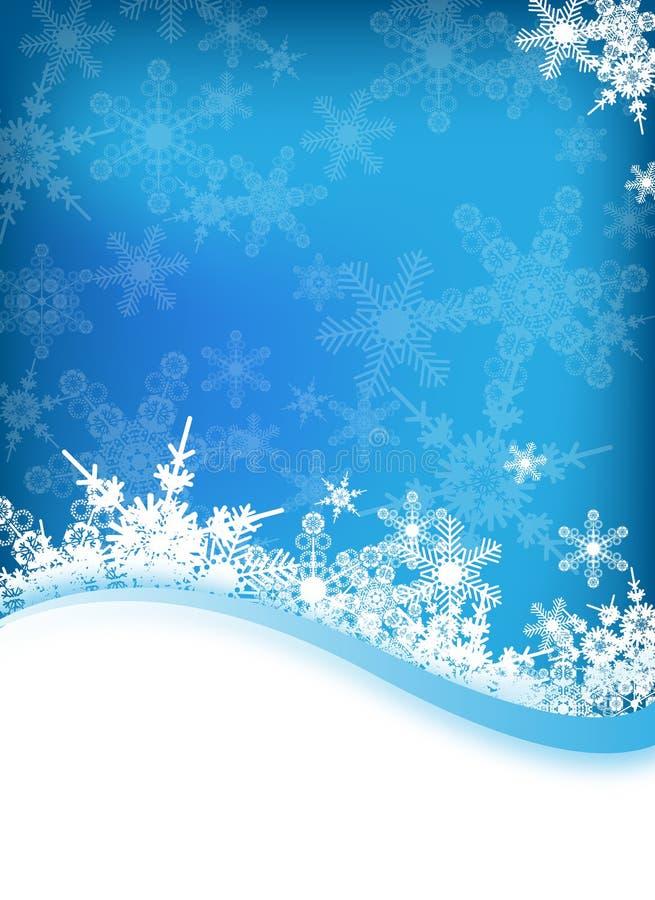 向量冬天背景 向量例证