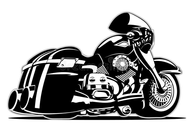 向量动画片摩托车 皇族释放例证