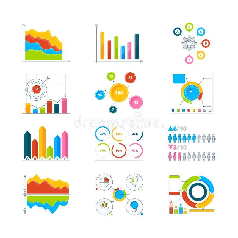 向量图形、图和图 图画事务的infographics元素 库存例证