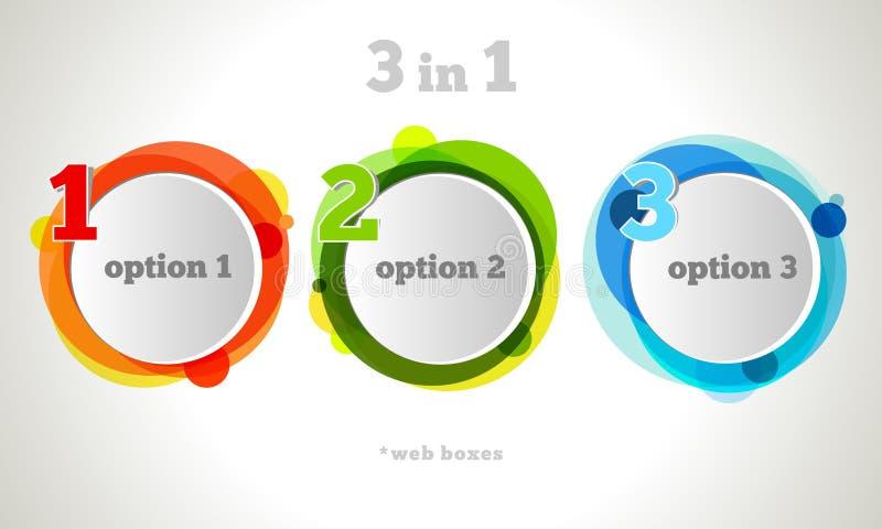 向量图形设计按钮和标签模板 向量例证