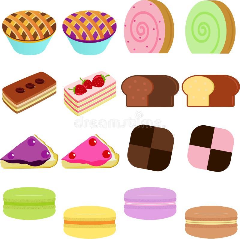 向量图标: 逗人喜爱的甜蛋糕 皇族释放例证