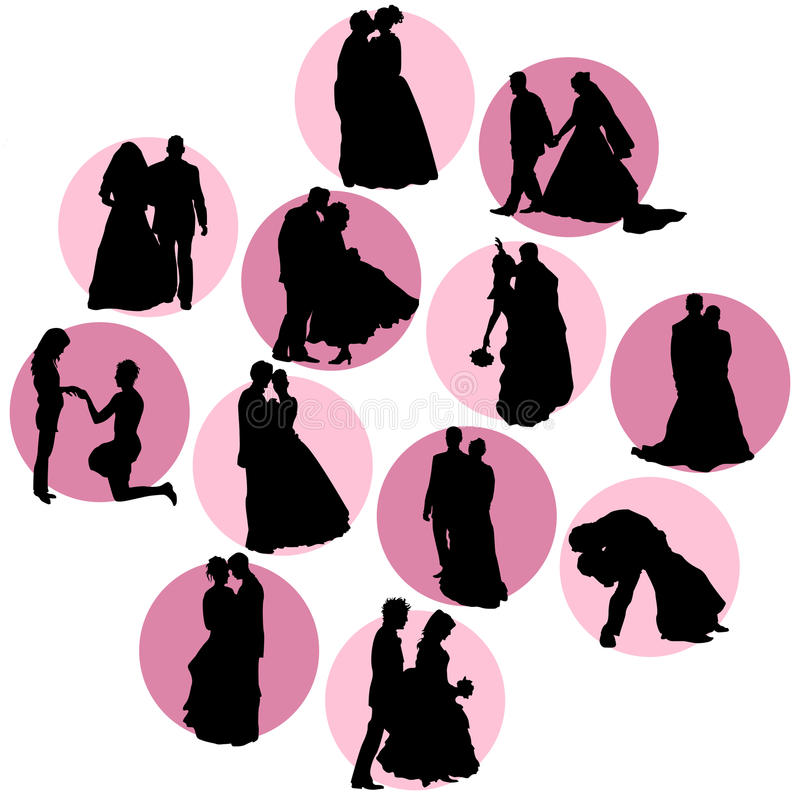 向量婚礼 库存例证